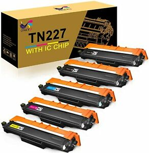 TN223 Fits MFC-L3770CDW HL-L3210CW MFC-L3750CDW HL-L3230CDW HL-L3290CDW MFC-L3710CW 4PK Compatible Toner Cartridge with Chip Replacement for Brother TN227 BK//C//M//Y