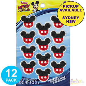 MICKEY-MOUSE-PARTY-SUPPLIES-12-EDIBLE-CUPCAKE-ICING-BIRTHDAY-CAKE-DECORATIONS