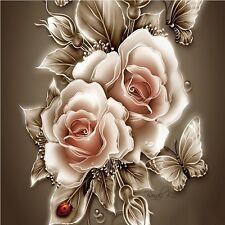 Rose Flower Scene DIY Diamond Painting Mosaic Kit Picture