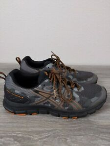 ASICS-Gel-Scram-4-Athletic-Running-Shoes-Black-Gray-Orange-Men-039-s-Size-9-5