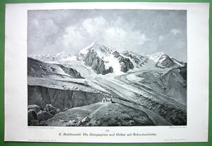ITALY-Tyrol-Alps-Ortler-and-Konigsspitze-Peaks-VICTORIAN-Print-Engraving