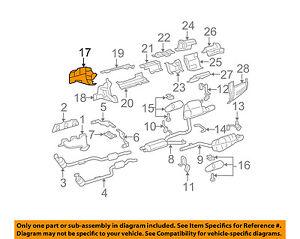 mercedes oem 13 14 c300 3 5l v6 exhaust heat shield 2046820272 ebay rh ebay com GM 5.3 Engine GM 5.3 Engine