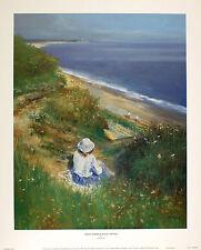 "CHARLES NEAL ""Above Dunwich Beach"" suffolk seaside NEW! SIZE:50cm x 40cm  RARE"