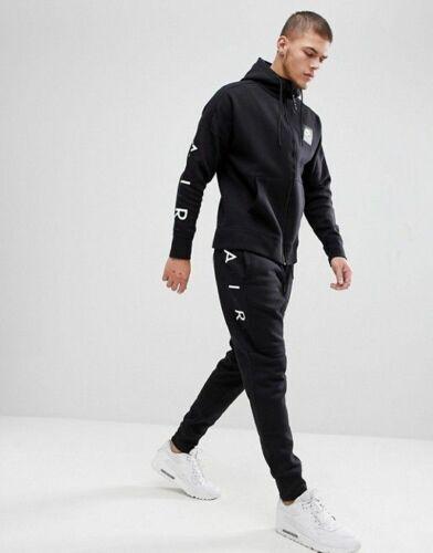 Homme Neuf Nike Air Survêtement Top Bottoms Fleece Sweat à Capuche Jogging Noir S à Xl