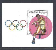 1996 Yemen SC 679 - Atlanta Olympic Games - Javelin Souvenir Sheet - MNH*