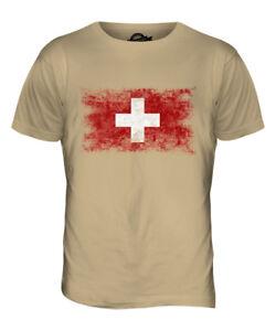 3XL Switzerland Flag Adults Mens T Shirt 12 Colours  Size S