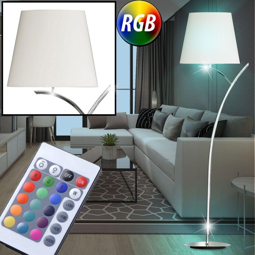 RGB LED textile plafond laveuse salon télécommande arc stand lampe dimmable neuf