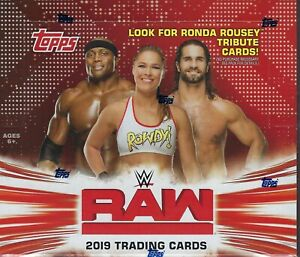 2019-Topps-WWE-RAW-New-Sealed-Wrestling-Trading-Cards-168c-Retail-DISPLAY-Box-FS