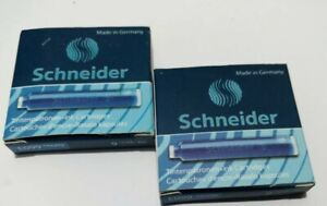 royal blue colour. Schneider ink cartridges for fountain pens 6  per pack