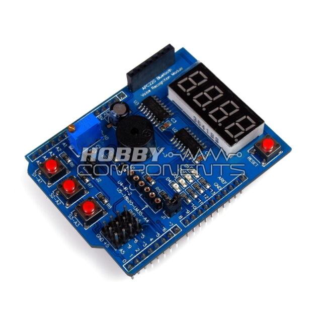 Hobby Components UK - Multifunction shield for Arduino Uno / Leonardo