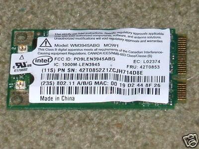 Intel Pro 3945 802.11a//b//g network Connection Mini PCI-e Wireless Card