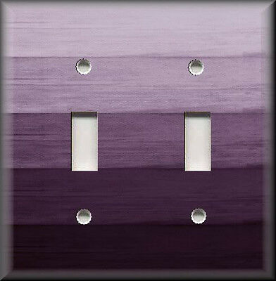 Light Switch Plate Cover - Ombre Home Decor - Plum Purple Hues Home Decor