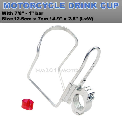 Silver Drink Cup Holder For Honda VTX 1300 1800 TYPE C R S N F T RETRO