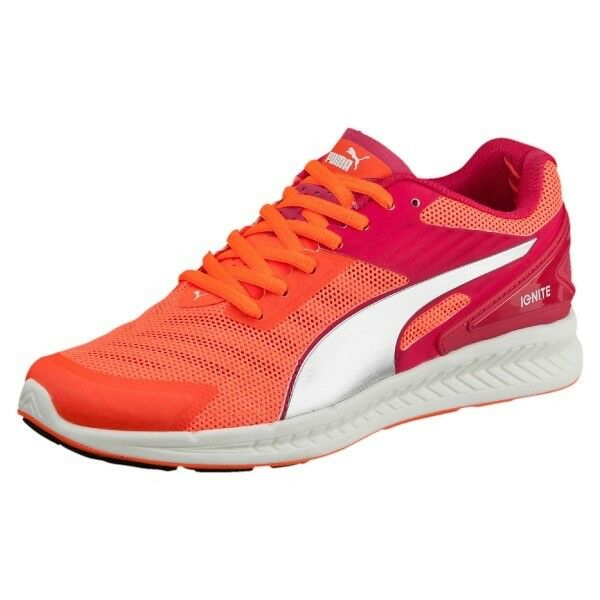 Chaussures Femme Puma Ignite V2 Rose Rouge Femmes Mesh Running Baskets