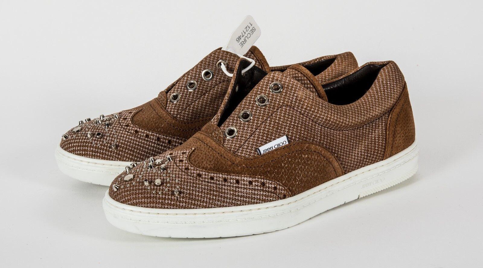 Scarpe casual da uomo  Jimmy Choo Brian Nude slip on shoes sneakers w/ studs size 39