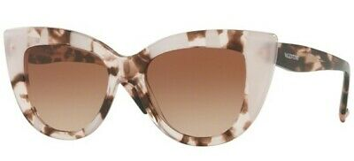 11 Valentino VA 4025 5057//13 Cat Eye Pink Havana Brown Sunglasses 51*18*140