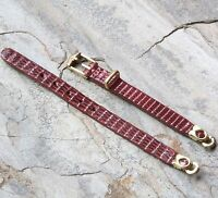 Stunning Oxblood Color Genuine Lizard Vintage Band For 1-hole Lug Ladies Watch