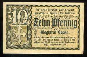 ALLEMAGNE-billets-de-necessite-de-10-pfennig
