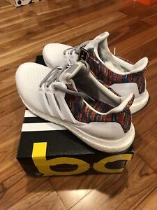 73225c9cdeff Adidas MiAdidas Mi Adidas Ultra Boost 2.0 White Multi-color Rainbow ...