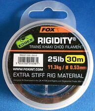 EDGES RIGIDITY TRANS KHAKI CHOD FILAMENT STIFF RIG MATERIAL FISHING TACKLE 30M
