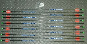 Details about  /CARBON  STORM Arrows  350 spine  8.3 gpi  31 1//2 inch  Yellow//White Vanes