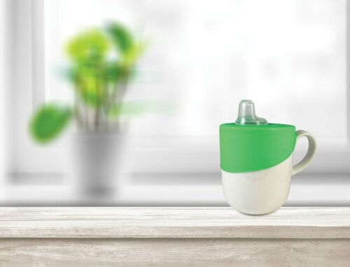 Clip n Sip Universal Sippy /& Straw Spout Lid Non Spill 2Pk Blue Green