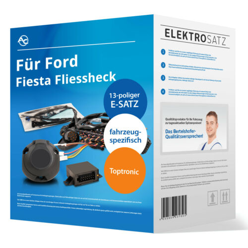 VI JA8 10.2008-12.2012 NEU TOP Elektrosatz 13-pol spez für Ford Fiesta Fliessh