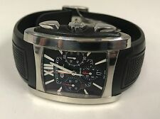 EBEL Brasilia Chronograph Automatic Stainless Steel Men's Watch Rubber E9126M52