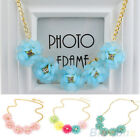 Sweet Womens Fresh Style Big Flowers Statement Collar Chain Necklace Choker Gift