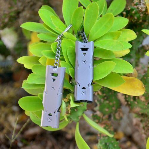 150DB Stainless Steel Metal Whistle Lifesaving Emergency SOS Self Survival Tool