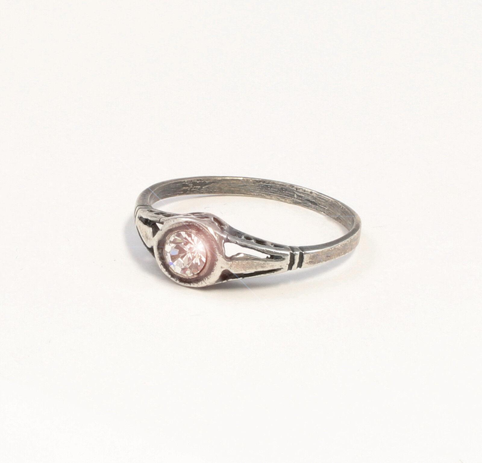 925er silver Ring mit Swarovski-Steinen Gr. 51 filigran 9901371