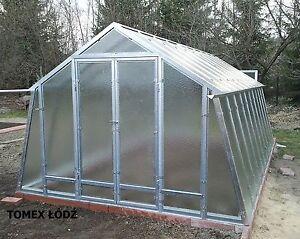 Stahl Gewachshaus 3x5m 15m2 Glas Treibhaus Ebay