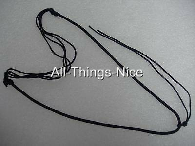"Silk String Pendant Tie 18-24/"" Adjustable Tab SLIDE Necklace Jewellery Cord 20"