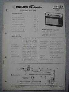 Philips P5D54T Colette Kofferradio Service  Manual Ausgabe 01/65