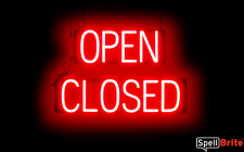 SpellBrite Ultra-Bright OPEN CLOSED Sign Neon look LED performance