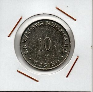 Monaco : Gaming token 10 Francs S.B.M / LOEWS MONTE-CARLO CASINO - España - Monaco : Gaming token 10 Francs S.B.M / LOEWS MONTE-CARLO CASINO - España