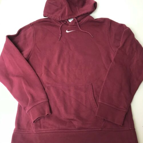 Mens Nike Center Swoosh Hoodie Small Burgundy Rare