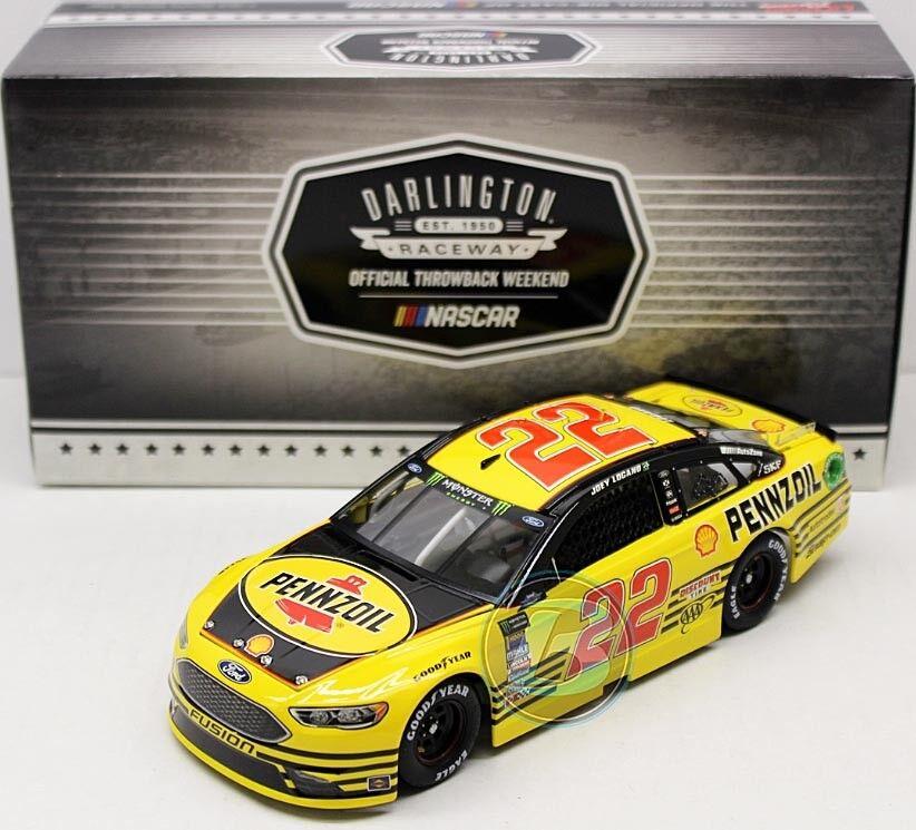 22 Penske FORD NASCAR 2018  Pennzoil Darlington  Joey Logano-LIM 1 24.