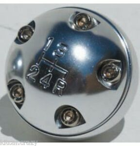 CLASSIC AUSTIN MINI PEAR SHAPED ALLOY GEAR KNOB WITH SHIFT PATTERN