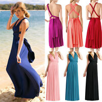 Celebrity Convertible Multiway Wrap Evening Party Bridesmaid Formal Long Dress