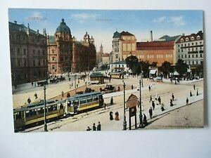 Ansichtskarte-Dresden-Postplatz-um-1910-Strassenbahn