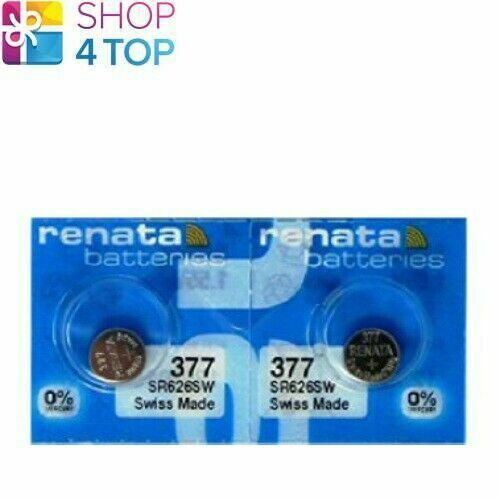 2 Renata 377 SR626SW Batteries Silver 1.55V Watch Swiss Made Exp 2022 New