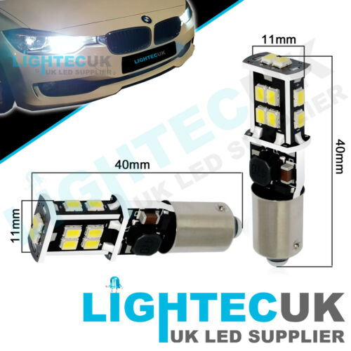 2x BAX9S H6W 433 XENON LED CANBUS BULBS SIDELIGHTS  VW AUDI BMW F20 F30 F31 F34