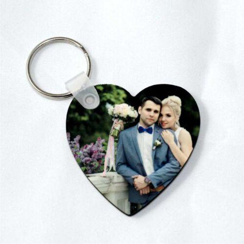 Schlüsselanhänger mit Fotodruck • Herzform 50mm • 50x50mm • zum Valentinstag