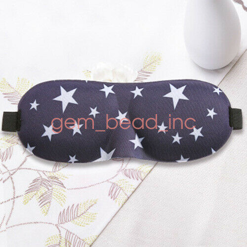 Fashion 3D Eye Mask Night Relax Rest Sleep Padded Shade Cover Sleeping Blindfold