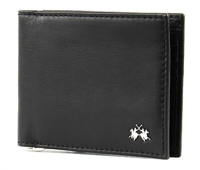 Bello La Martina Rio Tortoni Dollari Wallet Denaro Parentesi Portafoglio Black Nero Nuovo- Ultimi Design Diversificati