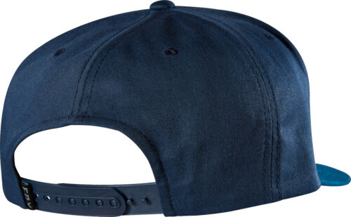Fox Racing Men/'s Blocked Snapback Hat Fox Head Logo Ball Cap MX//ATV Black Indigo