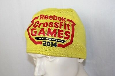 d315d7126b0 Reebok Crossfit Games 2014 Beanie Knit Shell Fleece Lined Color Yellow