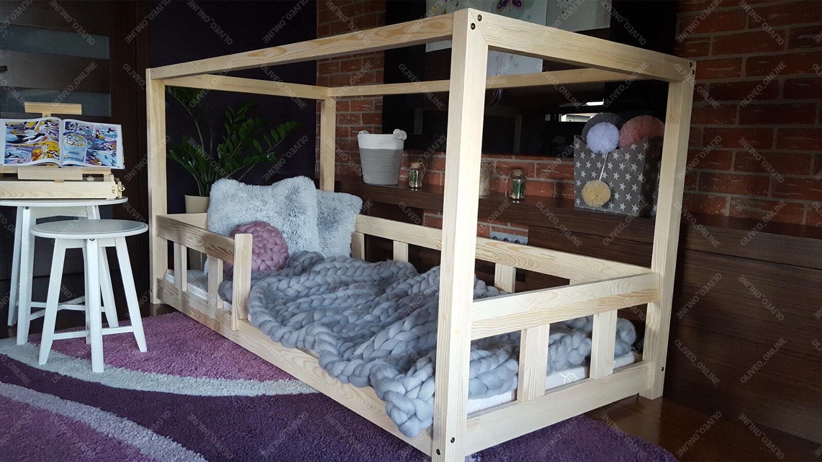 Hausebett kinderhaus Lit pour enfants Lit bébé bois massif spielbett Bois Maison