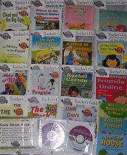 15 Teacher's Guides Kit 1st Grade On Level + 18 Books Leveled Readers + 2 Audio